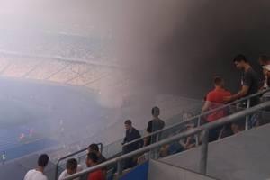 В Киеве ультрас из Харькова сорвали финал аматорского чемпионата Украины
