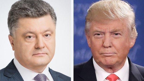 Петр Порошенко и Дональд Трамп. Фото: twitter.com/STsegolko