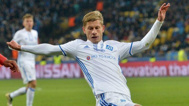 Полузащитник Динамо В.Федорчук стал свободным агентом