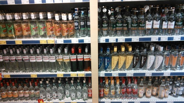 В Украине упало «белое» производство водки