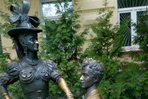 В Киеве обворовали памятник Голохвастому