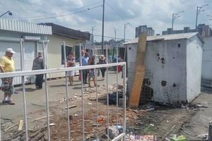 В Киеве на Троещине снесли очередной рынок