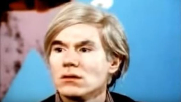 Энди Уорхол. Кадр из видео