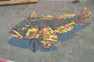 На площади в центре Одессы появился уникальный 3D-рисунок