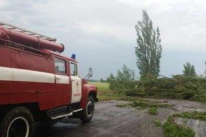 В Полтавской области из-за непогоды рухнула труба котельной