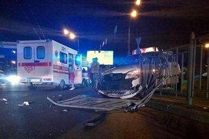 Масштабное ДТП в Киеве: три авто, трое пострадавших