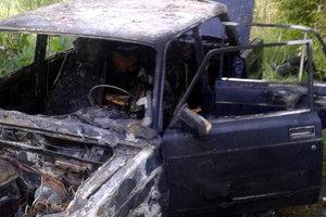В Киеве ночью дотла сгорела машина