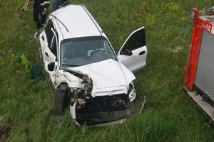 Грузовой поезд протаранил Hyundai в Черниговской области