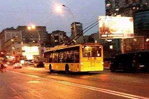 В Киеве временно изменят маршрут ночного троллейбуса