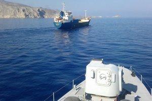 В Эгейском море береговая охрана Греции обстреляла турецкий сухогруз