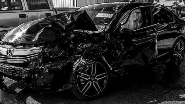 Машина Редкача после аварии. Фото XSport
