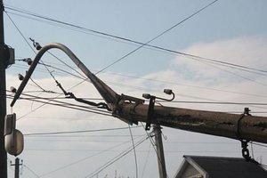 Во Львовской области после ДТП 150 домов остались без света