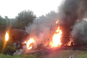 Под Харьковом горели цистерны с мазутом