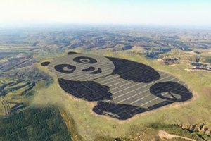China built a solar power station in the form of a Panda
