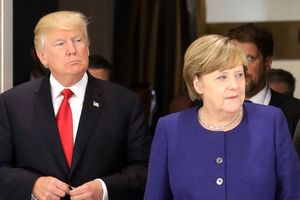 The main topics at the talks, Merkel and trump steel, Korea, the conflicts in Ukraine and Syria