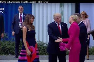 Трамп снова попал в неловкую ситуацию из-за рукопожатия