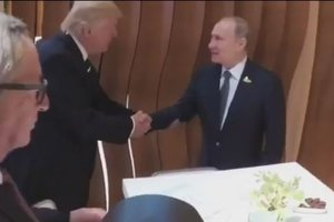 Did Putin's famous handshake trump: published video