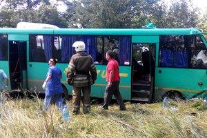 Пассажирский автобус столкнулся с фурой на трассе Харьков – Симферополь