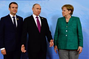 In Hamburg began meeting Merkel, Putin and Macron