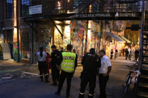 In the night club Oslo shooting occurred