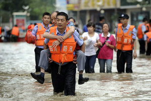 In China more than 12 million people were in the flood zone