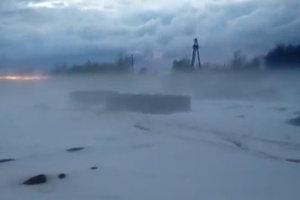 Западный Казахстан завалило снегом