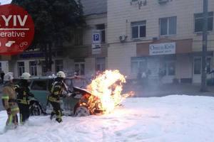 "В Киеве недалеко от станции метро горела ""Нива"""