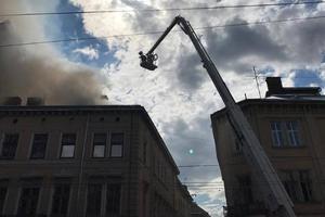 Масштабный пожар в центре Львова: новые подробности