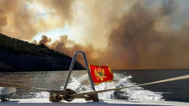 Курорты Хорватии иЧерногории охвачены лесными пожарами
