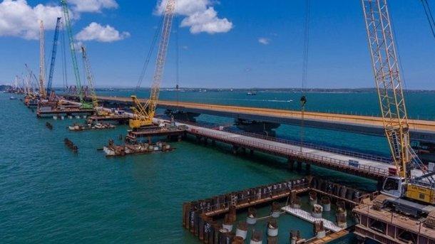 В РФ заявили, что автомобильнаый мост в Крым готова на 75 процентов