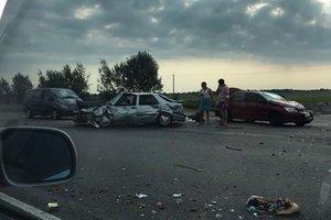 Под Киевом столкнулись четыре машины, есть пострадавшие