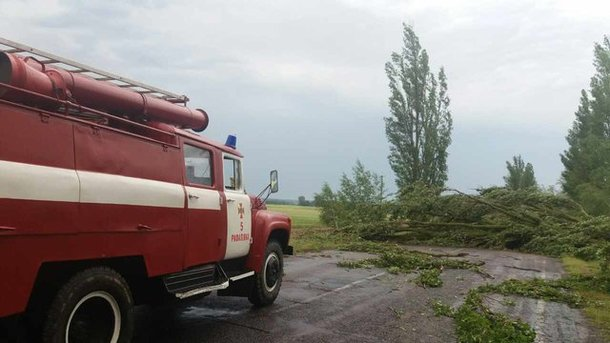 В Украине бушевала непогода