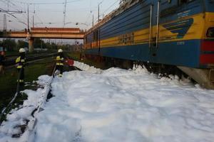 В Днепропетровской области горел поезд с бензином