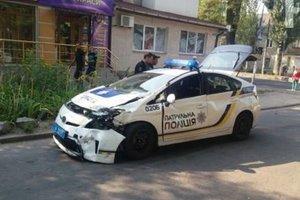 В Запорожье патрульные попали в ДТП