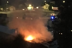 На Прикарпатье тушили серьезный пожар