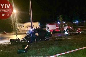 Смертельное ДТП в Киеве: автомобиль разорвало на части