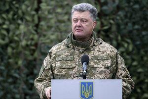 Порошенко рассказал, благодаря чему и кому Украину успешно сдерживает российский войска