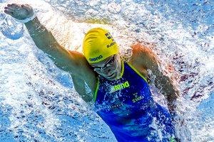 Шведка Сара Шестрем обновила мировой рекорд в плавании на 50 метров кролем