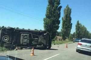 В Херсонской области военная техника попала в аварию