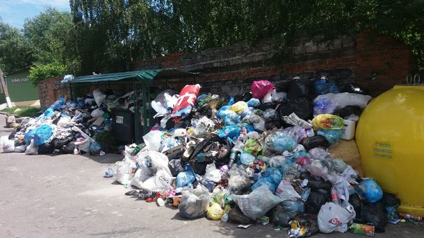 """Неубранные отходы больше года """"терроризировали"""" львовян. Фото: Т.Самотый"""