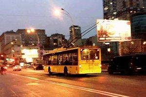 В Киеве вечером изменятся маршруты троллейбусов и автобуса