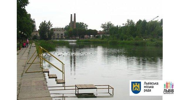 В этом озере нашли мертвого мужчину. Фото: мэрия Львова