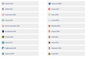 Результаты жеребьевки раунда плей-офф квалификации Лиги чемпионов