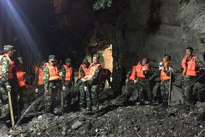 Мощное землетрясение в Китае показали в одном видео