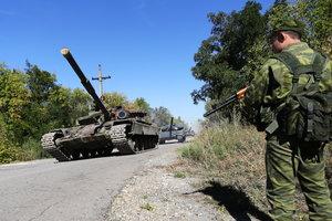 Боевики окапываются под Донецком