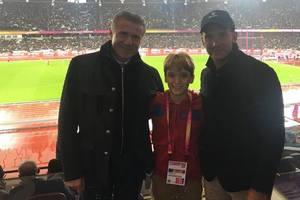 Андрей Шевченко с сыном побывал на чемпионате мира по легкой атлетике