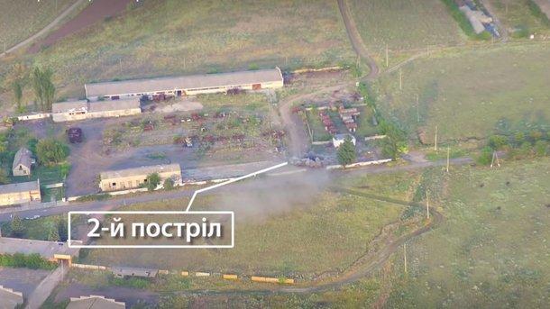 Винтернете появились массивные видеокадры уничтожения зенитной установки террористов наДонбассе