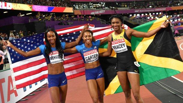 Кори Картер стала чемпионкой мира в беге на 400 метров с барьерами