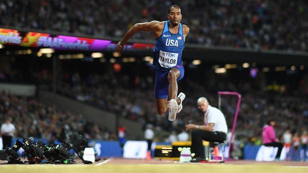 Кристиан Тэйлор третий раз подряд стал чемпионом мира в тройном прыжке