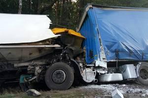 Жуткое ДТП на трассе Киев-Чоп: столкнулись две фуры, есть погибший